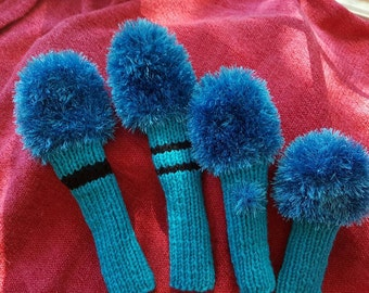 Hand Knitted Golf Head Covers
