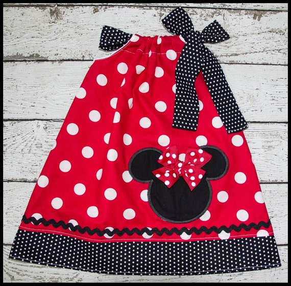 Minnie Mouse Pillowcase style dress red polka dot