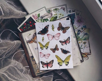 Butterfly stickers - watercolor butterflies flakes