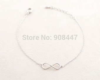 Beautiful silver plated infinity bracelet