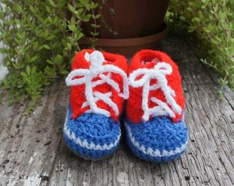 High Top Baby Bootie - Crocheted