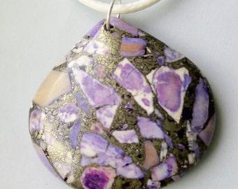 Purple Sediment Jasper Chalcopyrite  Necklace