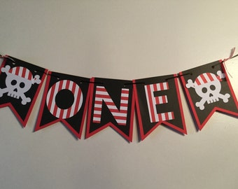 one banner, high chair banner, pirate banner,1st birthday banner, first birthday banner, pirate party banner, pirate theme,pirate birthday