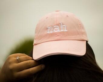 Nah light pink baseball cap