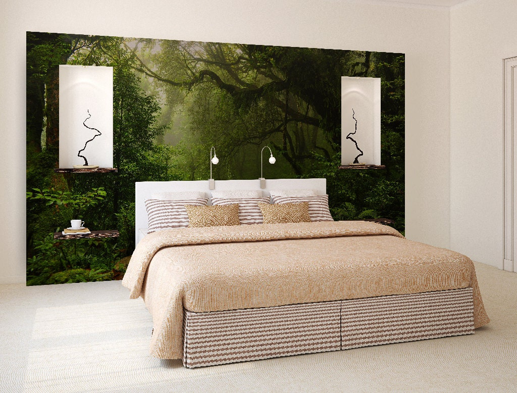Enchanted forest wall mural self adhesive photo mural for Enchanted forest bedroom wall mural