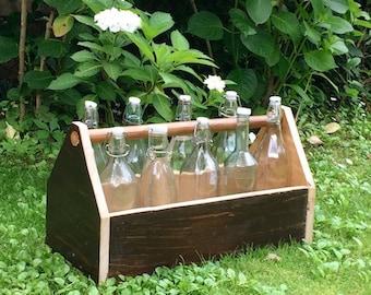 Tool box, bottle racks, flower pot, planter