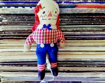 """Vintage Raggedy Andy Doll 7.5"""""""