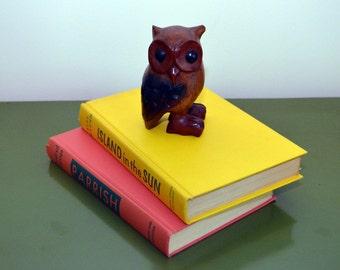 Vintage Quirky Primitive Mid-Century Wood Owl