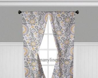 lavender purple yellow gray curtain panels floral curtains window treatments custom drapery nursery decor drapes