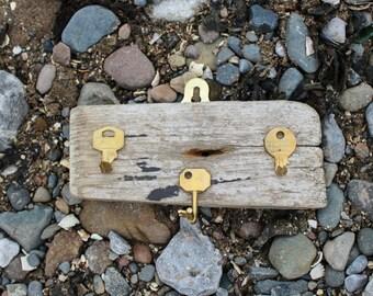 Handmade driftwood key hooks