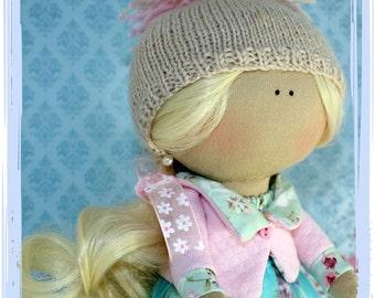 Handmade Textile Doll Home Decorations Tilda Style Toys