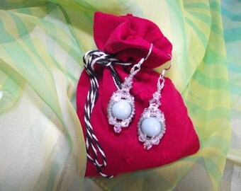 Bead and Crystal Earrings