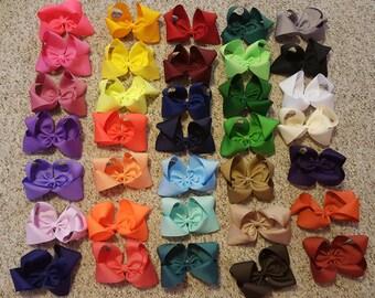 "3"" Set of 10 Boutique Bows, 3 inch Grosgrain hair bows"