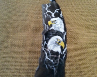 Painted Eagle on Feather