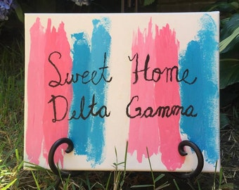 Sweet Home Delta Gamma Canvas