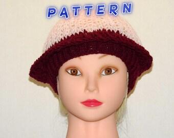 Pink and Maroon Snug Fitting Ladies Spring & Summer Cap Pattern