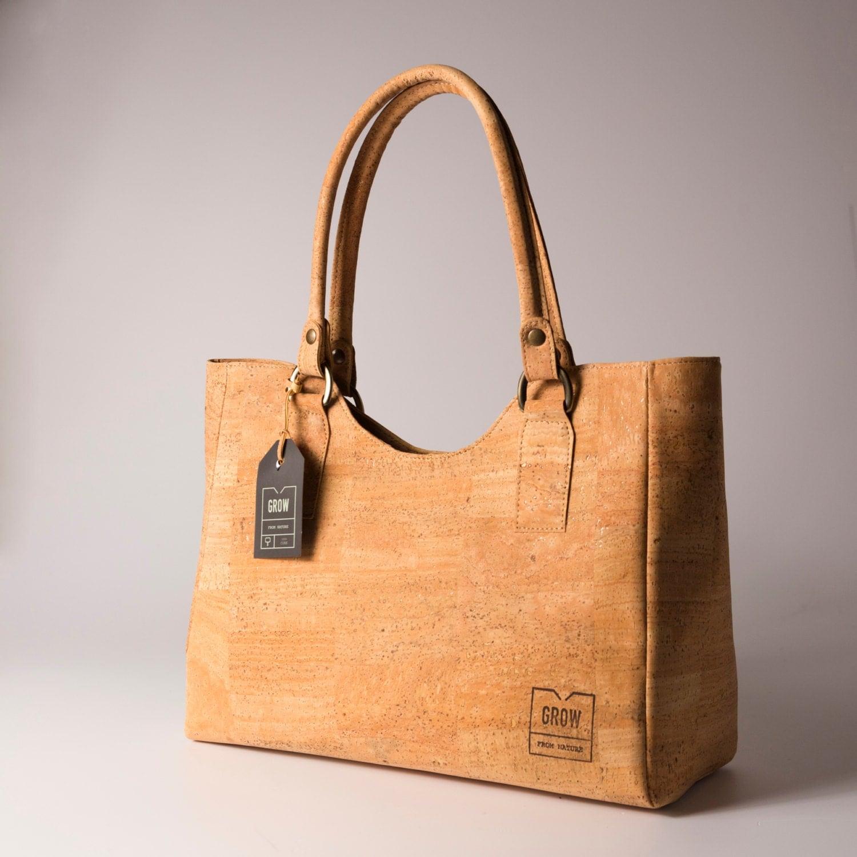 Cork Handbags: Beautiful Tote Handbag From Natural Cork FREE SHIPPING Vegan