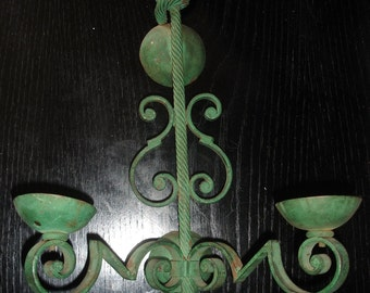 Gilbert Poillerat French wrought iron wall sconce