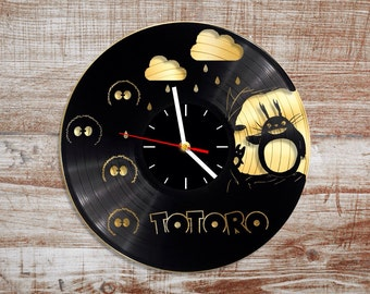 My neighbor totoro vinyl record wall clock Anime studio ghibli