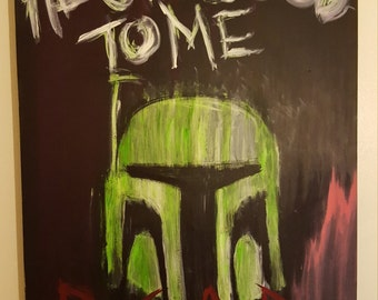 Star Wars Boba Fett Canvas Painted