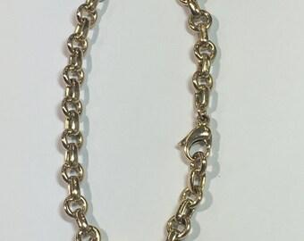 Tiffany & Co. 18k Yellow Gold Link Charm Bracelet