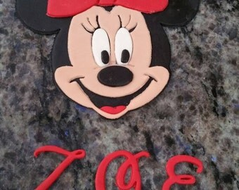 Minnie Mouse fondant edible cake cupcake topper cookie decoration