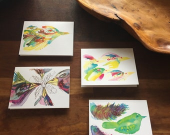 Aves, blank greeting cards
