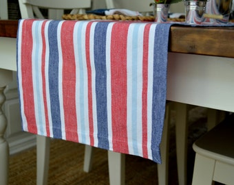 Summer Fun Striped Table Runner (Fourth of July)