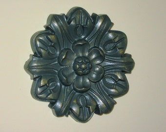 """Antiqued Ceiling or Wall Medallion, 8"""" Ceiling Medallion, Ornate Medallion, ceiling medallion"""