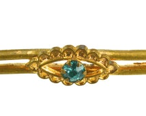 Antique Brooch, Bar Brooch,  For repair Pin Missing, Vintage Jewellery, Gold Coloured  Costume Jewellery, UK