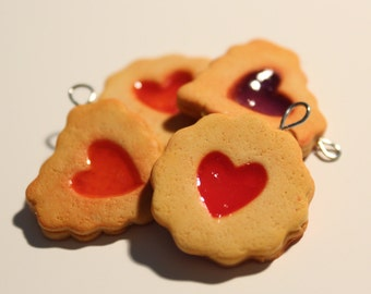 Cute jelly filled cookie charm