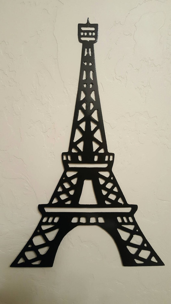 Small Eiffel Tower Wall Decor : Eiffel tower metal wall art paris decor