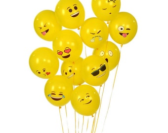 100PCS/Lot Emoji Ballons Yellow Smiley Face Globos Party Wedding Christmas Decor Latex Ballon