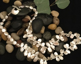 Pearl Necklace, Ivory Heishe and Coin Pearls