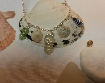 Delicate Bay of Fundy Sea Glass shell necklace