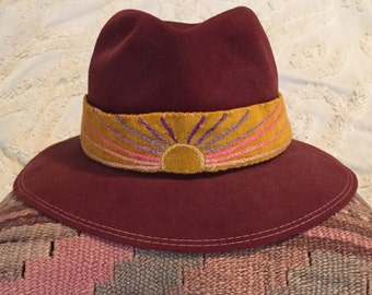 Hand Embroidered Hat Band
