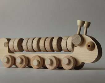 "Wooden toy abacus ""Millipede"" ,children toy, eco friendly toy"