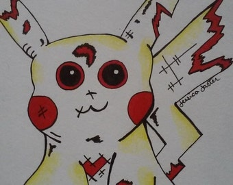 Zombie Pikachu Wall Art