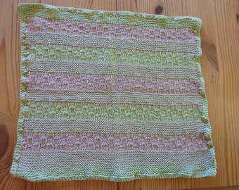 Hand knitted 100% cotton dish cloth / wash cloth