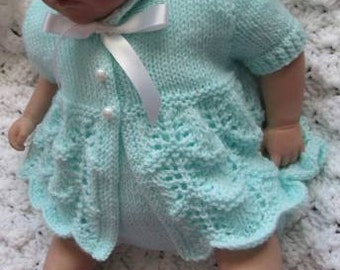 knitting pattern for 0-3mth baby or reborn doll 20-22""
