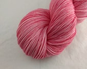 Sock Yarn - Bubblegum Colorway -  Merino Wool, Nylon Blend - Hand Dyed - Knit - Crochet - Fingering Weight