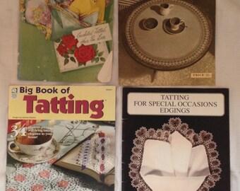 Four Edging/Tatting Pattern Books