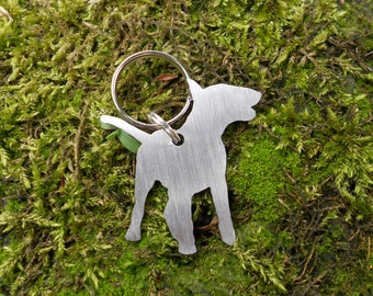 Steel Bull Terrier keyrings