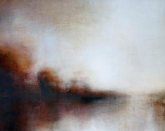 Tonal Light River. Landscape Painting by Michelle Tholen