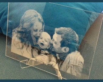 Personalized Engraved Acrylic Photo Picture in Clear Perspex Acrylic