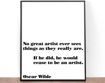 Typography Print, Printable Wall Art, Wall Art, Inspirational Quote Print, Oscar Wilde, Quote, Art, Black and White