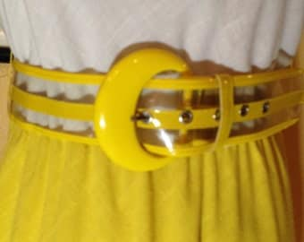 60s clear yellow belt