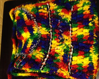 hippy bag rainbow