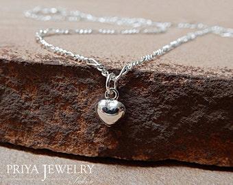 DAINTY HEART CHOKER Necklace 925 Sterling Silver Layering Necklace Delicate Necklace Tiny Heart Necklace Sedona