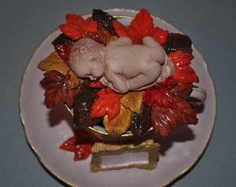 Autumn Leaf Baby Teacup
